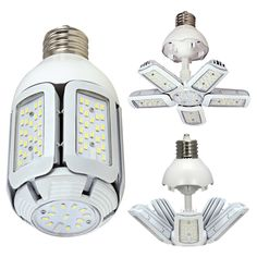 LED Mogul Extended 60 Watt HID Replacements Bulb with 7320 Lumens 83 CRI and 360 Degrees Beam - Base: - Hardwired or plug in: Plug in - Average Hours: 50000 - Beam Spread: 360 Nuvo Lighting - Light Bulb Wattage, Light Bulb Bases, Incandescent Bulbs, Lamp Bases, Specialty Light Bulbs, Deco Led, Bay Lights, Garage Lighting, Woodworking Projects
