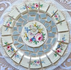 MOSAIC TILES ARRANGEMENT Shabby Chic Cut from by ilovemosaics