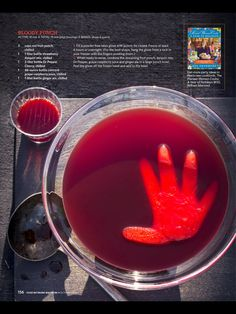 Scary Halloween Punch The Pioneer Woman Recipe #recipes #halloween #thepioneerwoman