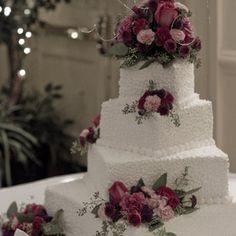 #wedding cake with roses