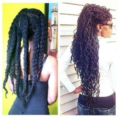 yeahsexyweaves:  Braid out locs Follow for more styleshttp://www.yeahsexyweaves.tumblr.com