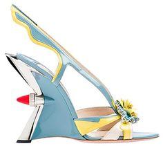 Prada heels inspired by classic 1950s cars