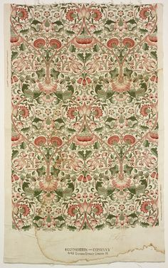 Lodden (Furnishing Textile Length) William Morris, designer British, 1834-1896 Lodden (Furnishing Textile Length), 1884 Cotton; plain weave, block printed 1988.096.6