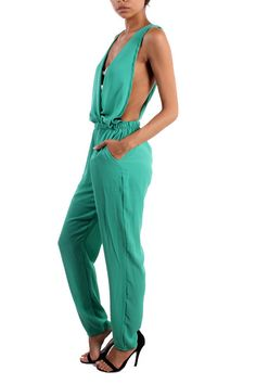 LOW SIDE CROSS BACK JUMPSUIT