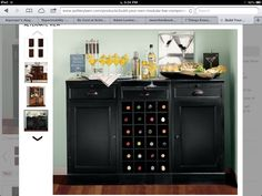 This might be a great alternative to a built-in. Wondering if a wine cooler would fit in here?