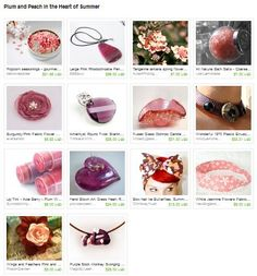 Plum and Peach in the Heart of Summer  Curated by GreenhouseGlassworks