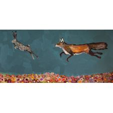 """""""The Chase"""" by Eli Halpin Painting Print on Wrapped Canvas"""