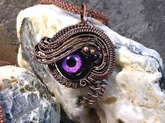 SOLD - Dragon eye Pendant by NutshellCreations on Etsy
