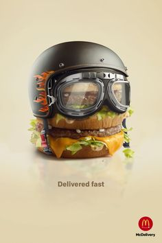 campaign ads McDelivery - Delivered fast on Behance Food Graphic Design, Food Poster Design, Food Design, Advert Design, Advertising Design, Clever Advertising, Advertising Poster, Ads Creative, Creative Posters