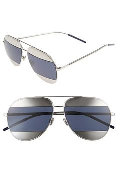 e4c8d3e276 Dior Split 59mm Aviator Sunglasses