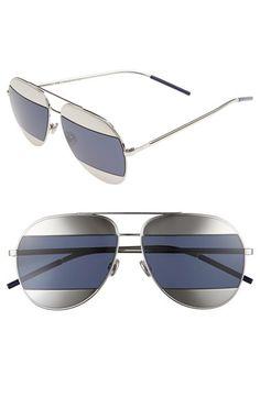 26689fc30b Christian Dior  Split  59mm Aviator Sunglasses Christian Dior Sunglasses
