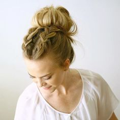 Two Dutch Braids into a messy bun today There isn't a tutorial yet but I've linked to one that features the braids in this style! Inspo from @anniesforgetmeknots + @laineymariebeauty #missysueblog