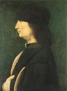 BOLTRAFFIO,Giovanni Antonio  Italian High Renaissance (ca.1466-1516)_A Man in Profile [possibly 1498-1516]