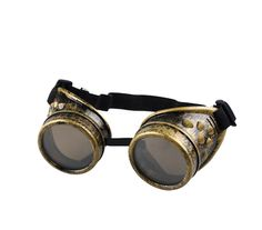 Become the torque of the town sporting our Vintage Victorian Style Steampunk Welding Goggles. Slip on these high-style safety shades and allow the gears of your intellectual engine to engage, heaven k