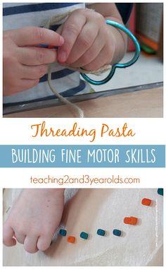 Developing Fine Motor Skills While Threading