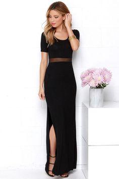 Detail Oriented Black Maxi Dress @lulusdotcom @wanelo