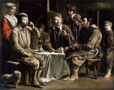 Le Nain Brothers - Peasant Repast [c.1648] by Gandalf's Gallery, via Flickr