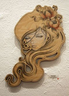 Audrey Kawasaki - Love the face, hair, flowers in the hair (although would prefer different flowers - bit more art nouveau style!)
