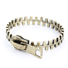 Zippy cute. {Zip Retro Metal Bracelet}