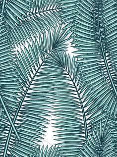 Seamless pattern with palm leaves in sketch style. Stylish seamless background for design of printed materials. Notebook Covers, Seamless Background, Leaf Prints, Watercolor Flowers, Plant Leaves, Palm, Graphic Design, Stylish, Drawings