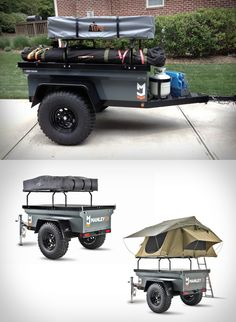 """Equipped with 33"""" M/T tires, a locking aluminum lid, trailer rack, and roof top tent; the Explore will follow your tow vehicle out to the most remote sanctuaries. Where iPads are replaced with stargazing... allowing you to stay in comfort. more photos & details at blessthisstuff.com"""