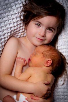Sweet big sister and a jaundice newborn-- I'm expecting both! :)