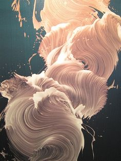 This painting is so amazing it looks like fine hair or something! I just had to pin it is so interesting to look at the patterns and designs are so intricate