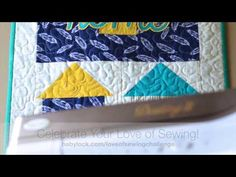 Sewing an Applique on the Baby Lock Destiny II: Love of Sewing Challenge Part 2 - YouTube