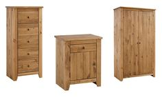 Suitable for most bedrooms, this handcrafted solid pine shaker style furniture features ample storage compartments with Aztec wax finish