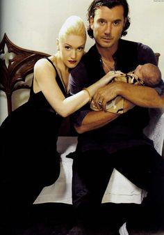 Gwen Stefani & Gavin Rossdale with little Kingston