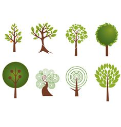 Trees vector on VectorStock®