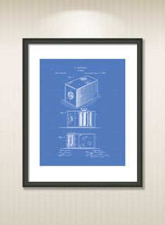 This reproduction was digitally restored and in some cases altered to remove defects or unwanted artifacts present in the original #patent document.  Buy more and save! Buy ... #patentart #art #print #gift #digital #download #instant #wall #printable #drawings #camera #photos
