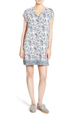 Madewell 'Flora Paisley' Silk Tunic Dress available at #Nordstrom