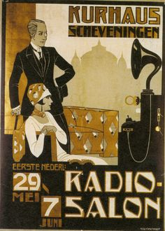 Philips Radio Salon poster, Den Haag, ~Via Abel Vegter
