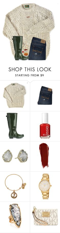 """This sweater❤️"" by hgw8503 ❤ liked on Polyvore featuring Abercrombie & Fitch, Hunter, Essie, Kendra Scott, NARS Cosmetics, Alex and Ani, Kate Spade and MICHAEL Michael Kors"
