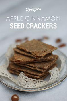 Apple Cinnamon Seed Crackers - Gluten Free, lactose free, no added sugar. MisplacedBrit