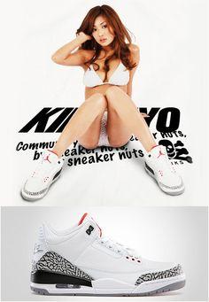 I dig it. Air Jordan 3, Air Jordan Shoes, Chicks In Kicks, Pin Up Poses, Jordans Girls, Japanese Girl, Simply Beautiful, Asian Woman, Hot Girls