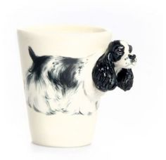 American Cocker Spaniel Mug - White & Black