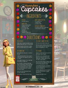 Big Hero 6 Honey Lemon Honeybee Cupcakes recipe with lemon curd and honey lemon frosting Disney Dishes, Disney Desserts, Disney Recipes, Disney Themed Food, Disney Inspired Food, Lemon Curd Recipe, Lemon Recipes, Lemon Desserts, Big Hero 6