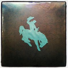 Hand sewn saddle bronc western pillow