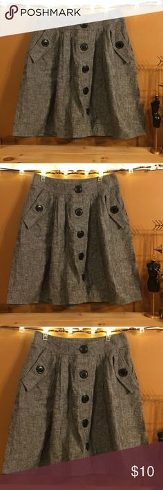 Gray A-Line Button-Down Skirt XXI by Forever 21. Excellent condition. Forever 21 Skirts A-Line or Full