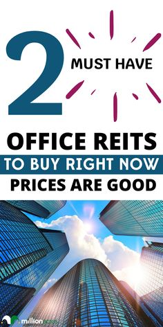 Office REITs have been under tremendous pressure this year. The average one has lost about a quarter of its value, which is much worse than the roughly 10% decline of the average equity REIT. #office #REIT #invest #financial #investing #business #money Real Estate Investor, Real Estate Marketing, Investment Property, Rental Property, Commercial Real Estate Investing, Residential Real Estate, Business Money, Buy Now, Lost