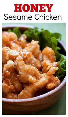 Honey sesame chicken - crazy delicious chicken in a sticky sweet and addictive honey sesame sauce, make it today! http://rasamalaysia.com