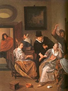 Jan Steen Doctor's Visit, 1663-1665