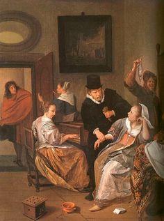 Jan Steen Doctor's Visit, 1663-1665