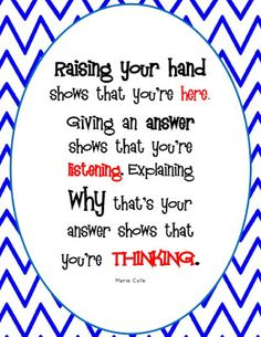 The Hands-On Teacher: A New Classroom Sign (FREEBIE)