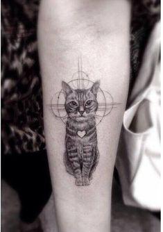 Cat Tattoo Designs For Girls: Most loved cat tattoos in 2018 cat tattoo - Tattoos And Body Art Mini Tattoos, Dog Tattoos, Animal Tattoos, Trendy Tattoos, Forearm Tattoos, Body Art Tattoos, Small Tattoos, Cat Tattoo Designs, Tattoo Designs For Girls