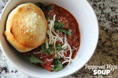 Mix and Match Mama: Dinner Tonight: Pepperoni Pizza Soup. A fave at our house.