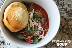 Mix and Match Mama: Dinner Tonight: Pepperoni Pizza Soup