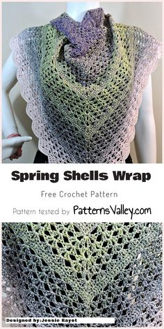 Crochet Spring Shells Wrap